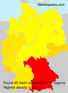 Familiennamen Geith - Germany