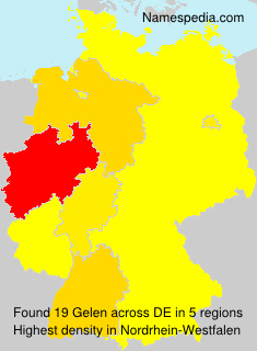 Surname Gelen in Germany