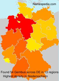 Surname Gembus in Germany
