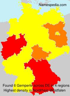 Surname Gemperle in Germany