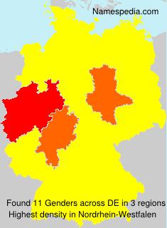 Familiennamen Genders - Germany