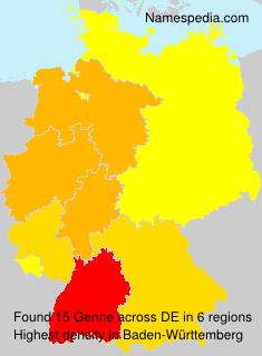 Familiennamen Genne - Germany
