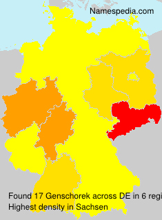Surname Genschorek in Germany