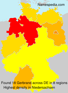 Surname Gerbrand in Germany