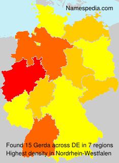 Surname Gerda in Germany
