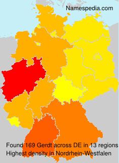 Surname Gerdt in Germany