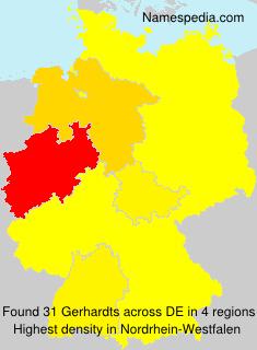 Familiennamen Gerhardts - Germany