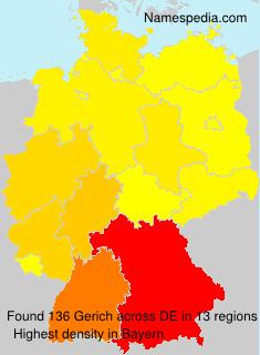 Familiennamen Gerich - Germany