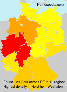 Surname Gerk in Germany