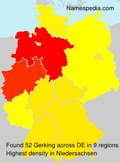 Surname Gerking in Germany