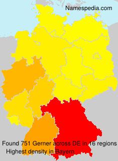 Surname Gerner in Germany
