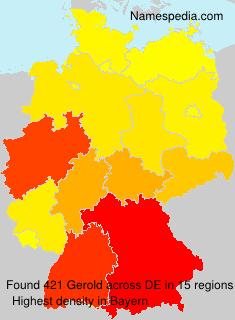 Familiennamen Gerold - Germany