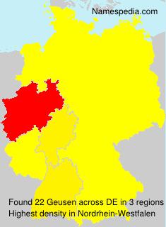 Familiennamen Geusen - Germany