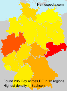 Surname Gey in Germany