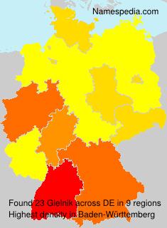 Surname Gielnik in Germany