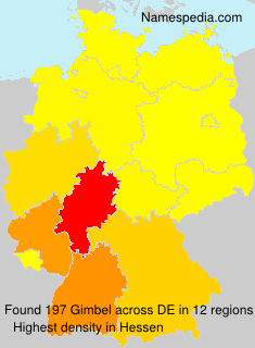 Surname Gimbel in Germany