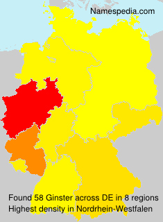 Familiennamen Ginster - Germany