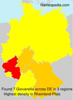 Familiennamen Giovanella - Germany