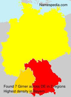 Familiennamen Girner - Germany