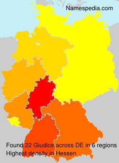 Surname Giudice in Germany
