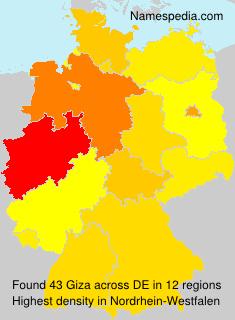 Familiennamen Giza - Germany