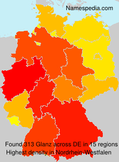 Surname Glanz in Germany