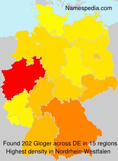 Familiennamen Gloger - Germany