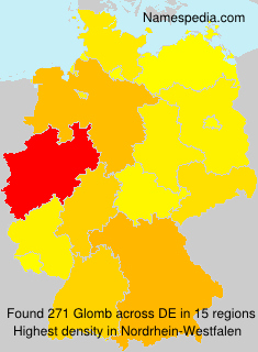 Surname Glomb in Germany
