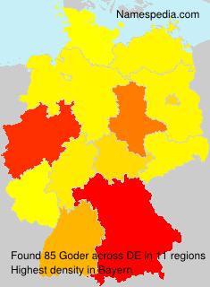 Surname Goder in Germany