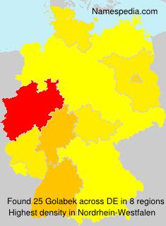 Familiennamen Golabek - Germany