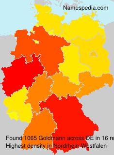 Familiennamen Goldmann - Germany