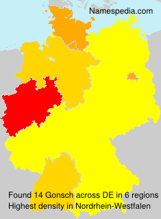 Surname Gonsch in Germany