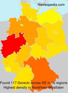 Surname Gorecki in Germany