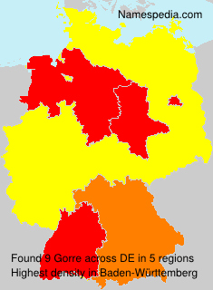 Surname Gorre in Germany