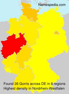 Surname Gorris in Germany