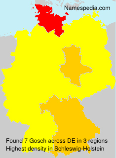 Surname Gosch in Germany