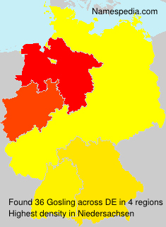 Surname Gosling in Germany