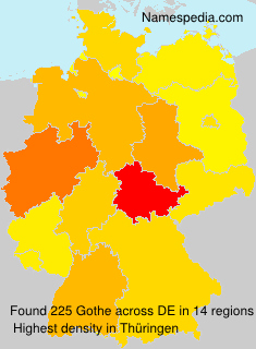 Surname Gothe in Germany
