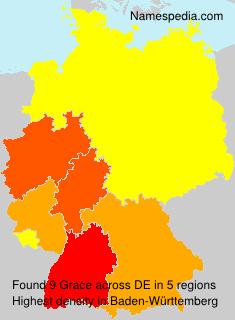 Familiennamen Grace - Germany