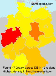 Familiennamen Grajek - Germany