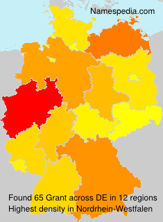 Surname Grant in Germany
