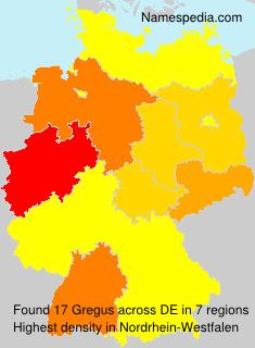 Familiennamen Gregus - Germany