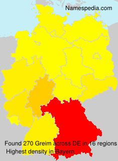 Surname Greim in Germany