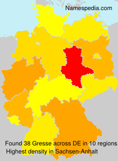 Surname Gresse in Germany