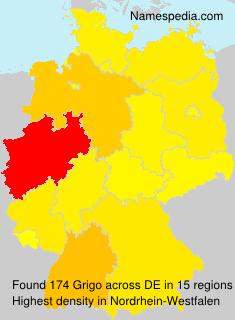 Surname Grigo in Germany