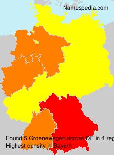 Surname Groenewegen in Germany