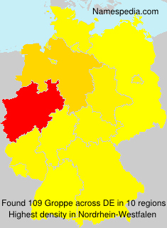 Surname Groppe in Germany