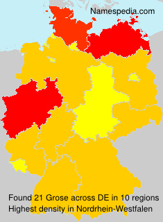 Surname Grose in Germany