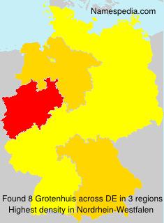Surname Grotenhuis in Germany