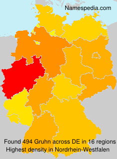 Surname Gruhn in Germany